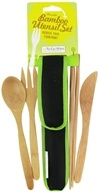 Image of To-Go Ware - RePEaT Bamboo Reusable Utensil Set Hijiki Black