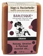 Biggs & Featherbelle - Barlesque Handmade Natural Soap Nutmeg, Geranium & Patchouli Essential Oil - 3.5 oz. LUCKY DEAL