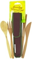 Image of To-Go Ware - RePEaT Bamboo Reusable Utensil Set Merlot Red