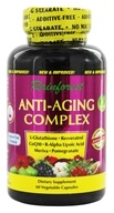 Rainforest - Anti-Aging Complex Resveratrol + CoQ10 - 60 Vegetarian Capsules, from category: Nutritional Supplements