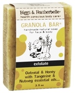 Biggs & Featherbelle - Granola Bar Handmade Natural Soap Oatmeal & Honey with Tangerine & Nutmeg Essential Oils - 3.5 oz. by Biggs & Featherbelle