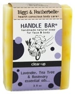 Biggs & Featherbelle - Handle Bar Handmade Natural Soap Lavender, Tea Tree & Rosemary Essential Oils - 3.5 oz.