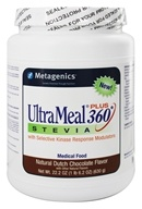 Image of Metagenics - UltraMeal Plus 360 Stevia Medical Food Natural Dutch Chocolate Flavor - 22.2 oz.
