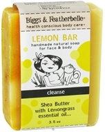 Biggs & Featherbelle - Lemon Bar Handmade Natural Soap Shea Butter with Lemongrass Essential Oil - 3.5 oz. LUCKY DEAL