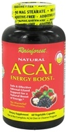 Rainforest - Natural Acai Energy Boost - 60 Vegetarian Capsules, from category: Nutritional Supplements