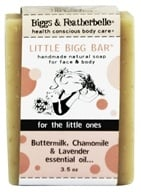 Biggs & Featherbelle - Little Bigg Bar Handmade Natural Soap Buttermilk, Chamomile & Lavender Essential Oil - 3.5 oz. by Biggs & Featherbelle
