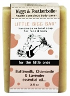 Biggs & Featherbelle - Little Bigg Bar Handmade Natural Soap Buttermilk, Chamomile & Lavender Essential Oil - 3.5 oz.