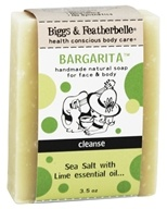 Biggs & Featherbelle - Bargarita Soap Sea Salt with Lime Essential Oil - 3.5 oz. Formerly Tequila Bar Handmade Natural Soap