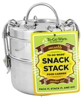 Image of To-Go Ware - Snack Stack 2-Tier Tiffin Set Stainless Steel Food Carrier