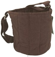 Image of To-Go Ware - 3-Tier Recycled Cotton Carrier Bag Plum Brown - OVERSTOCKED