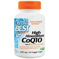 Doctor's Best - High Absorption CoQ10 600 mg. - 60 Vegetarian Capsules by Doctor's Best