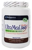 Image of Metagenics - UltraMeal Plus 360 Stevia Rice Medical Food Natural Dutch Chocolate Flavor - 24.7 oz.