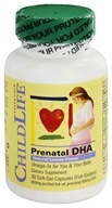 Child Life Essentials - Prenatal DHA Natural Lemon Flavor 500 mg. - 30 Softgels
