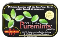 Meltzer's - Puremints Pastilles 100% Natural Licorice - 1.76 oz. by Meltzer's