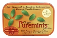 Meltzer's - Puremints Pastilles 100% Natural Ginger - 1.76 oz.