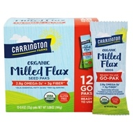 Carrington Farms - Flax Paks Flax Seeds Milled Organic - 12 Packet(s) by Carrington Farms