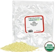 Image of Frontier Natural Products - Mustard Seed Yellow Ground Organic - 1 lb.