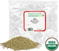 Image of Frontier Natural Products - Mustard Seed Yellow Whole Organic - 1 lb.