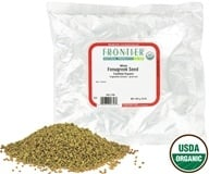 Frontier Natural Products - Fenugreek Seed Whole Organic - 1 lb. (089836003560)