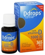 Ddrops - Liquid Vitamin D3 365 Drops 1000 IU - 0.34 oz. by Ddrops