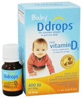 Ddrops - Liquid Vitamin D3 60 Drops for Infants 400 IU - 0.06 oz. by Ddrops