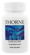 Thorne Research - Ferrasorb - 60 Vegetarian Capsules (693749750031)