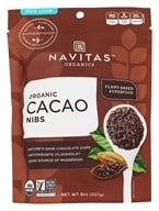 Produits organiques de Navitas - Cacao Nibs Certified Organic - 8 once.