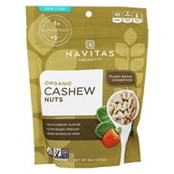 Navitas Naturals - Raw Cashew Nuts Certified Organic - 8 oz., from category: Health Foods