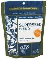 Navitas Naturals - Superseed Blend Omega Smoothie Mix Certified Organic - 8 oz. by Navitas Naturals