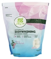 GrabGreen - Automatic Dishwashing Detergent 60 Loads Biggie Pouch Thyme with Fig Leaf - 36 oz. by GrabGreen