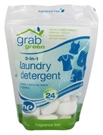 GrabGreen - 3-in-1 Laundry Detergent 24 Loads Fragrance Free - 15.2 oz. - $7.49