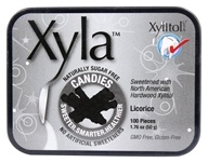 Xylitol USA - Xyla Naturally Sugar Free Candies Licorice - 100 Piece(s)