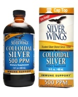 コロイドシルバー500 Ppm-16 fl. oz. by Natural Path Silver Wings