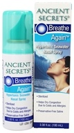 Image of Ancient Secrets - Breathe Again Hypertonic Seawater Nasal Spray - 3.38 oz.