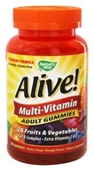 Nature's Way - Alive Multi-Vitamin Adult Gummies Cherry, Grape & Orange Flavors - 90 Gummies