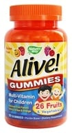 Nature's Way - Alive Gummies Multi-Vitamin For Children Natural Orange & Berry Flavors - 90 Gummies by Nature's Way