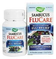 Nature's Way - Sambucus Flu Care Elderberry - 30 Lozenges by Nature's Way