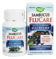 Nature's Way - Sambucus Flu Care Elderberry - 30 Lozenges