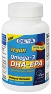 Deva Nutrition - Vegan Omega-3 DHA-EPA - 90 Vegetarian Capsules, from category: Nutritional Supplements