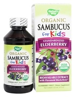 Nature's Way - Organic Sambucus for Kids Syrup Elderberry - 4 oz. by Nature's Way