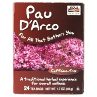 Image of NOW Foods - Pau D'Arco Tea - 24 Tea Bags