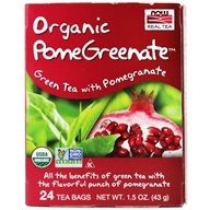 NOW Foods - PomeGreenate Green Tea With Pomegranate - 24 Tea Bags