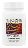 Thorne Research - Zinc Citrate 30 mg. - 60 Vegetarian Capsules - $9