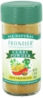 Frontier Natural Products - Curry Powder Salt-Free Blend - 2.19 oz. CLEARANCE PRICED