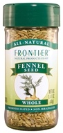 Frontier Natural Products - Fennel Seed Whole - 1.41 oz. - $4.08