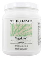 Thorne Research - VegaLite Plant Based Performance Protein Complex Vanilla - 15.2 oz., from category: Professional Supplements