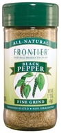 Image of Frontier Natural Products - Black Pepper Fine Grind - 1.76 oz. CLEARANCE PRICED