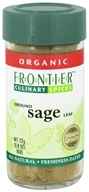 Image of Frontier Natural Products - Sage Leaf Ground Organic - 0.8 oz. CLEARANCE PRICED