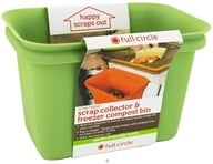 Full Circle - Scrap Happy Scrap Collector & Freezer Compost Bin Green by Full Circle