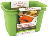 Full Circle - Scrap Happy Scrap Collector & Freezer Compost Bin Green
